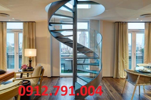 Cầu thang kính cường lực đẹp giá rẻ