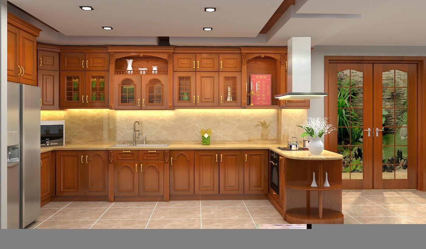 Ưu nhược điểm của tủ bếp gỗ tự nhiên